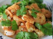 Crevettes grillées Coriandre
