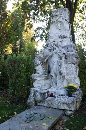 vienne cimetière central zentralfriedhof tombe strauss