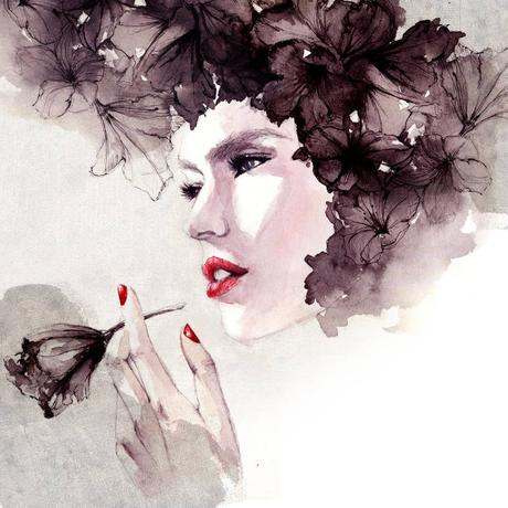 Watercolor and fashion by Sarah Bochaton