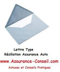 Lettre type de résiliation assurance auto
