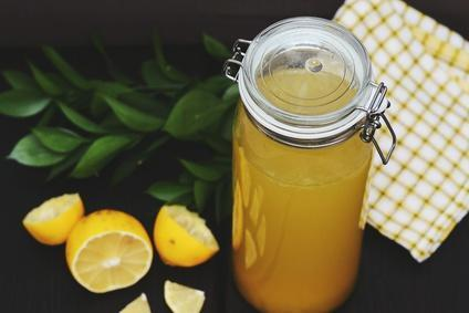 Cool fruit lemonade with orange juice