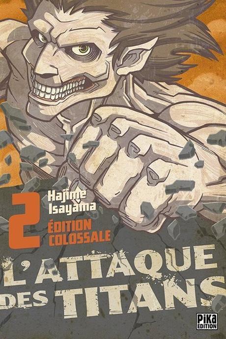 Couverture L'Attaque des Titans, triple, tome 2