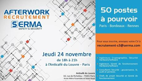 50 postes à pourvoir – SERMA SAFETY & SECURITY – Afterwork Recrutement