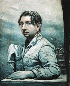 1924-25, Giorgio de Chirico : Autoportrait