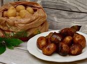 Pommes terre grenailles sautées l'ail laurier