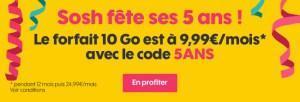 ? Bon plan : le forfait Sosh 10 Go à 9,99 euros par mois au lieu de 24,99 euros
