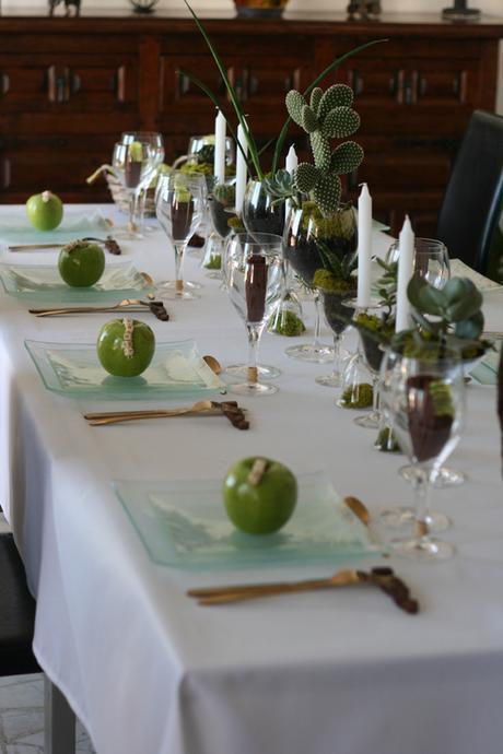 Succulentes et pommes vertes