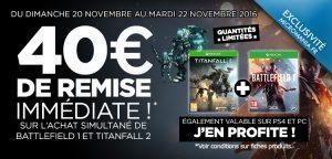 Bon Plan – BattleField 1 + Titanfall 2 pour 69.99€