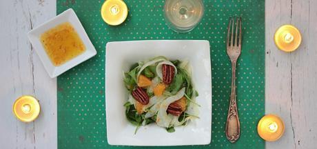 Noël vegan – Salade de fenouil à la clémentineet sa vinaigrette fumée