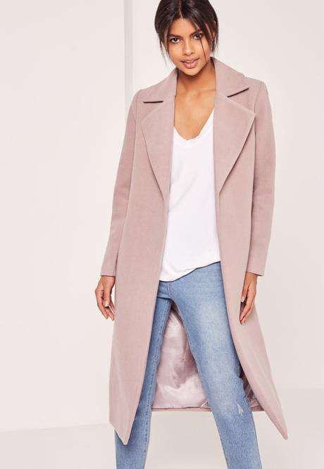 manteau rose