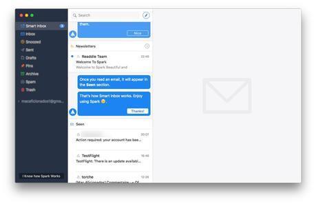 Spark pour Mac: le nouveau client Mail intelligent!