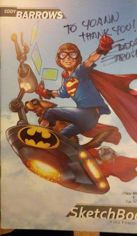 Le sketchbook d'Eddy Barrows dédicacé pour Yoann alias Blacki des GG Comics !