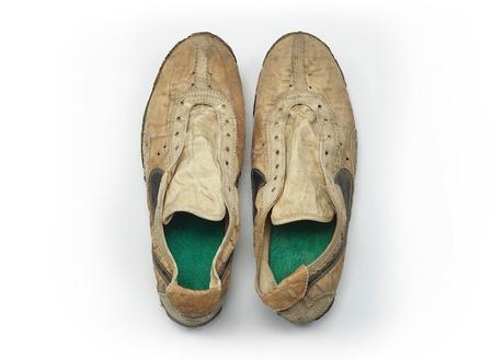 Une paire de Nike, portée aux sélections US des JO de 1972, à vendre sur eBay