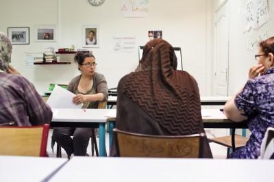 L'atelier socio-linguistique animé par Kheira Chergui © E.R