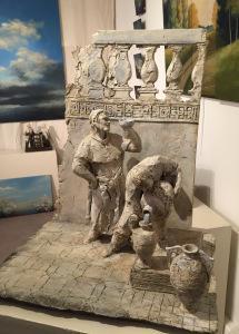 Atelier – Galerie  Chantal CHIRAC (9/18 Décembre 2016)  exposition Mireille VEAUVY et Frank GIRARD