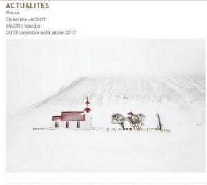 Galerie de l'Europe – exposition Christophe JACROT   » SNJOR » jusqu'au 14 Janvier 2017