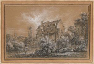 boucher-the-mill-of-quiquengrogne-at-charenton-morgan-library