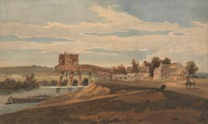 girtin-thomas-1802-gravthe-water-mill-above-the-bridge-at-charenton-illustration-from-the-series-a-selection-of-twenty-of-the-most-picturesque-views-in-paris-and-its-environs
