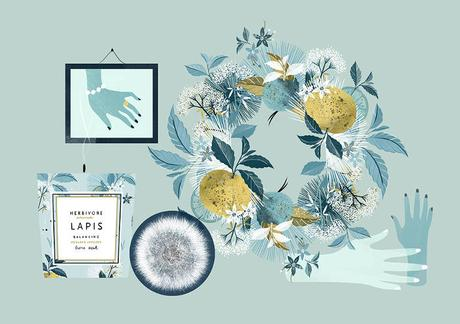 Luxury and cosmetics illustrated by Babeth Lafon