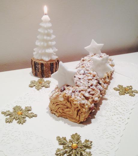 Bûche de Noël praliné