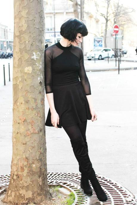 outfit-black-skirt-and-top