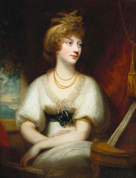 La princesse Amélia par Sir William Beechy en 1797 (Windsor)