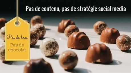Pas de bras pas de chocolat, pas de contenu pas de stratégie social media