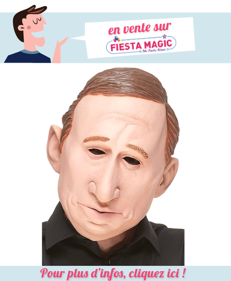Masque Vladimir Poutine en latex