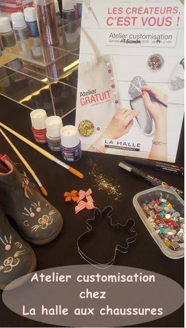 b6d8477c9557c3 La halle aux chaussures : atelier customisation