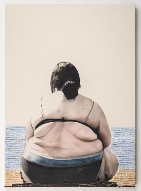 Woman on beach, 2014