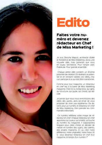 Miss Marketing Magazine : Réussir grâce aux Partenariats + mon interview (59 minutes)