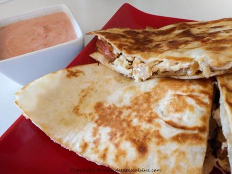 recette mexicaine quesadillas au poulet