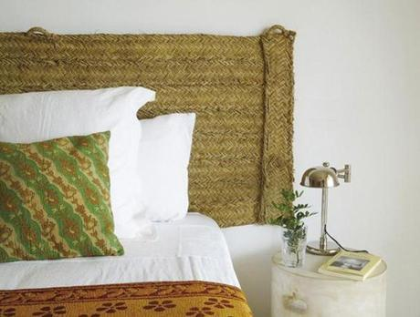tête de lit en vannerie