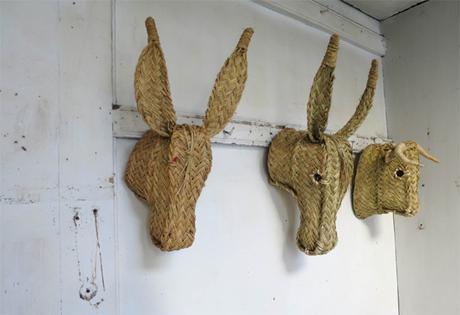 trophée tête d'ânes - deco murale