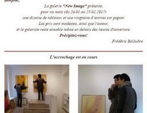 Galerie New Image exposition Frederic BELAUBRE « Transparence » 26 Janvier au 15 Février 2017