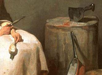 Chardin A la ratisseuse de navets 1738 Washington, National Gallery of Art,billot
