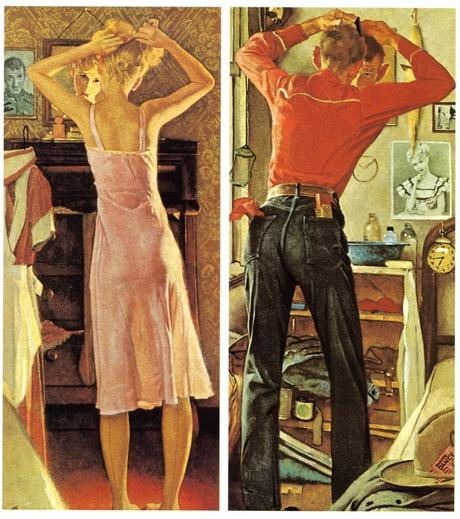Diptych -Before the date 1949 Norman Rockwell