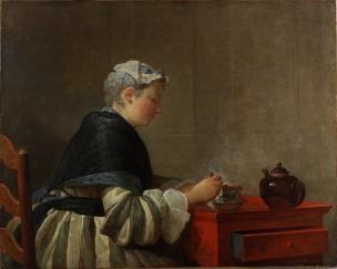 Chardin X A Lady Taking Tea, 1735, The Hunterian Museum and Art Gallery, University of Glasgow