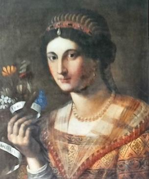 Jacopo Ligozzi, recto of female portrait, 1604, panel, private collection