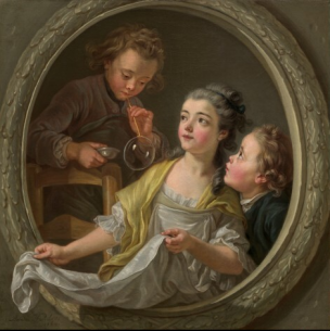 Van Loo (Charles Amedee Philippe) Les bulles de savon 1764 National Gallery of Arts Wahington