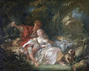 boucher 1760 l_ecole-de-l_amour karlsruhe-staatliche-kunsthalle