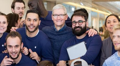 Week-End en France pour Tim Cook