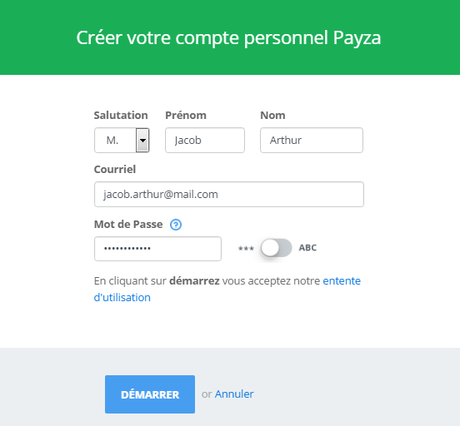 Comment ouvrir/créer un compte chez la banque virtuelle Payza ?