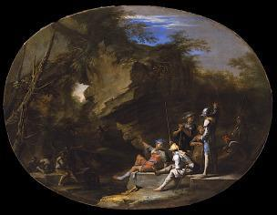 Rosa 1640 ca Landscape with Armed Men Los Angeles County Museum of Art