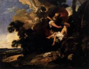 Liss Johan_-_The_Sacrifice_of_Isaac_1628-29 Venise, Galerie de l Academie