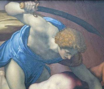David_and_Goliath_by_Daniele_da_Volterra_(Louvre_INV_566)_recto_02_david