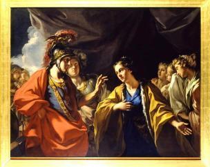 pellegrini (Giovanni Antonio) La Clémence d'Alexandre devant la famille de Darius vers 1700. soissons