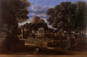 Poussin 1648 Paysage avec les cendres de Phocion Walker Art Gallery, Liverpool