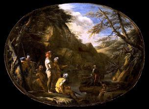 Rosa 1640 ca Landscape with Armed Men 2 Los Angeles County Museum of Art