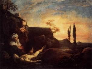 Liss Johan_-_La deploration d abel_1628-29 Venise, Galerie de l Academie